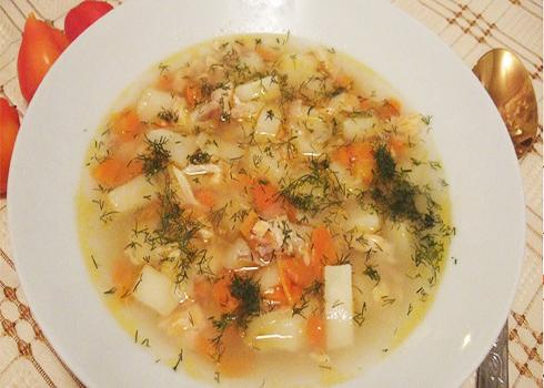 суп из консервированного толстолобика