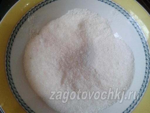 смешать сахар и соль