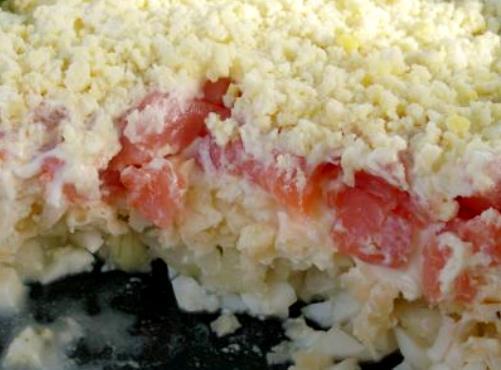 салаты с красной рыбой