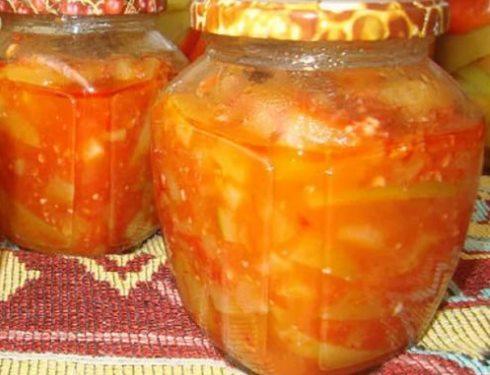 """""""Язычки"""" из кабачков с томатной пастой"""