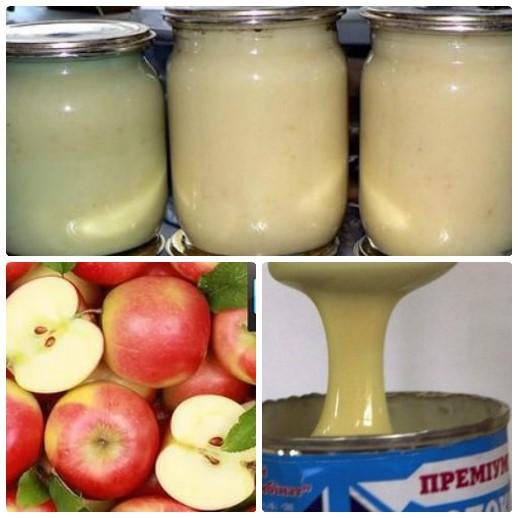 яблочное повидло со сгущенкой
