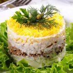 рецепт салат с сайрой