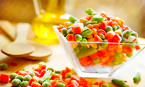 заморозить овощи
