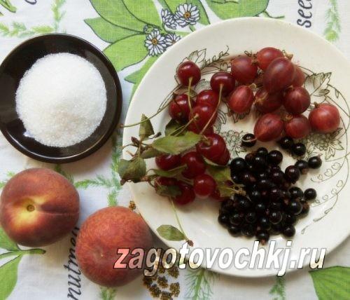 ингредиенты для варенья ассорти