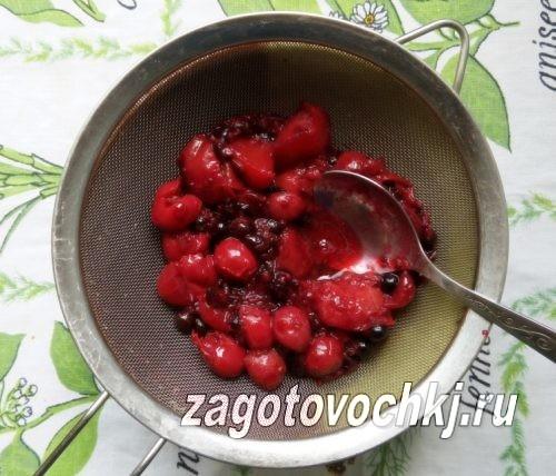 протираем ягоды и фрукты через дуршлаг