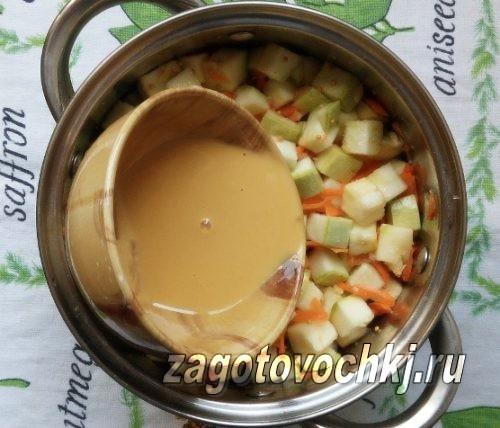 добавить горчицу к овощам