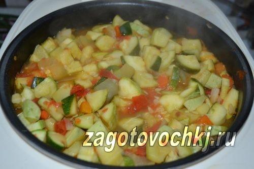 приготовить кабачки с овощами в мультиварке