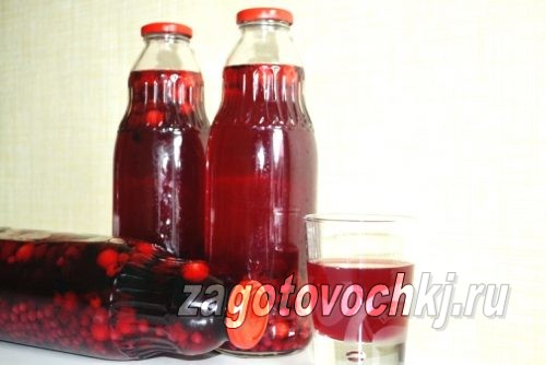 Компот на зиму из красной, черной смородины и вишни