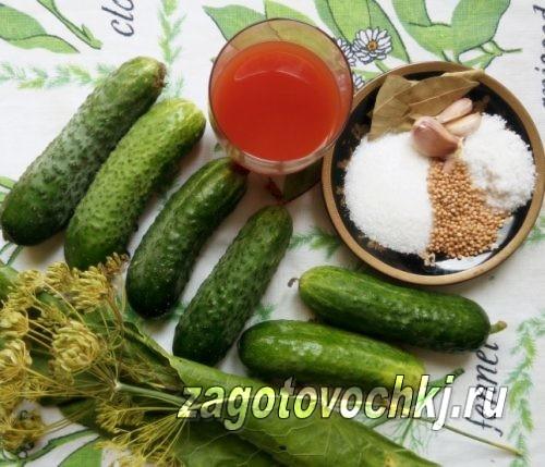 ингредиенты для консервации огурцов