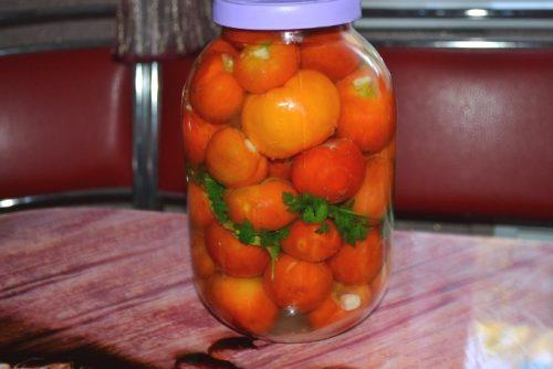 закрыть помидоры пластмассовой крышкой