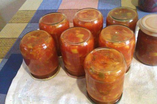 салат из кабачков с томатом на зиму
