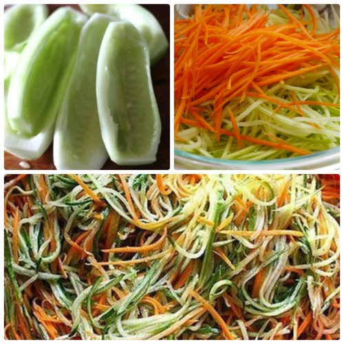 салат на зиму из огурцов и моркови по-корейски