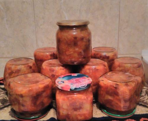 салат из фасоли на зиму