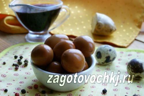 маринованные перепелиные яйца по-китайски