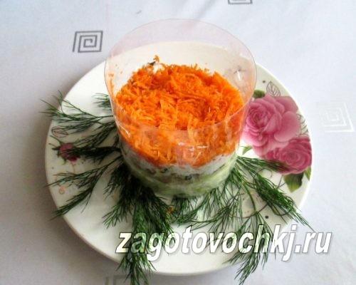 третий слой моркови