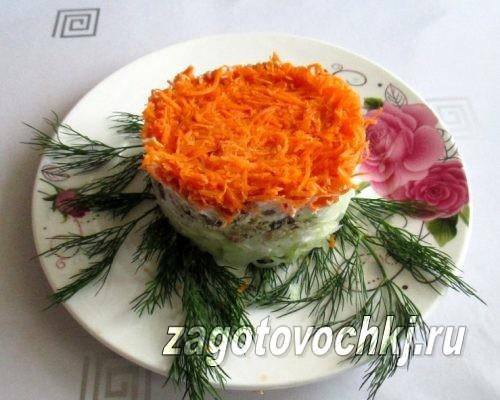салат с рыбными консервами и капустой, фото
