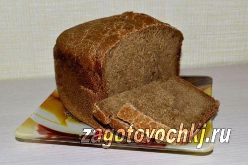 Бородинский хлеб на ржаной закваске в хлебопечке