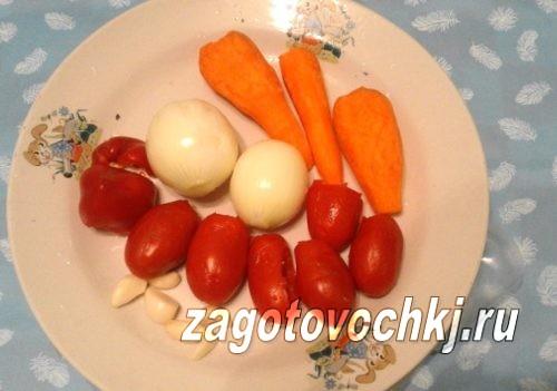 подготовить овощи для икры из баклажанов