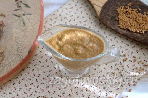 горчичный соус на минералке