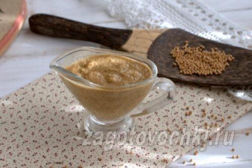 горчица на минералке, рецепт