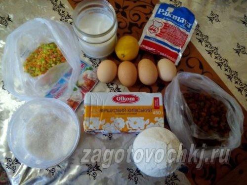 продукты для приготовления кулича