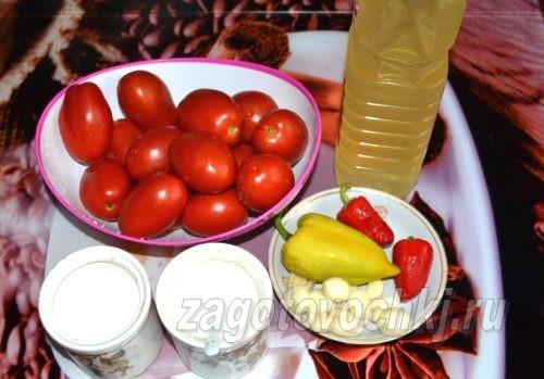 ингредиенты для аджики без варки