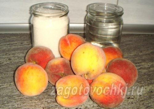 ингредиенты для консервирования персиков