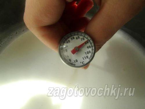 измерить температуру молока