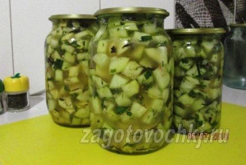 маринованные кабачки с уксусом и растительным маслом