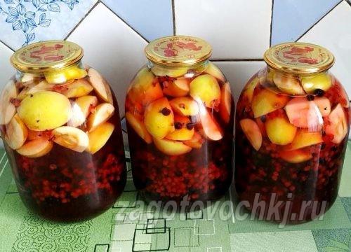 компот на зиму из яблок и смородины
