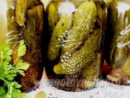 огурцы на зиму в яблочном соке