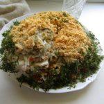 Миниатюра к статье Салат «Мимоза» с консервами, классический рецепт с фото