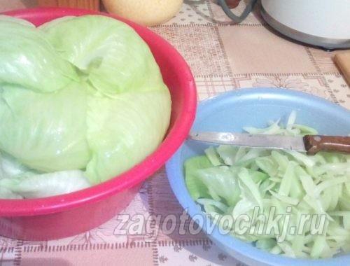 подготовка листьев капусты