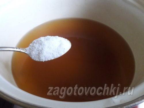 в рассол добавить сахар и соль