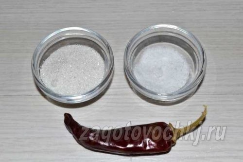 соль, сахар, красный перец