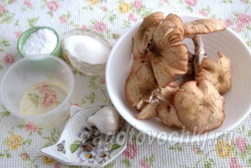 ингредиенты для маринованных грибов