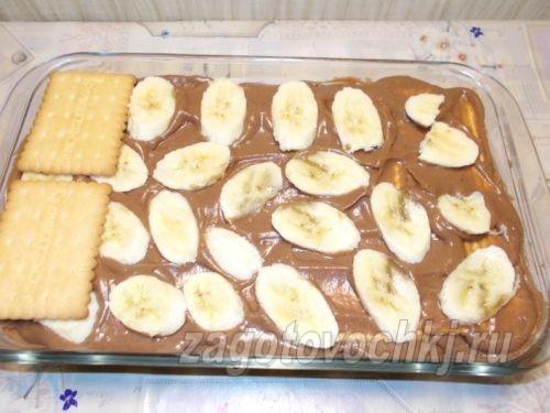 второй слой печенья с кремом