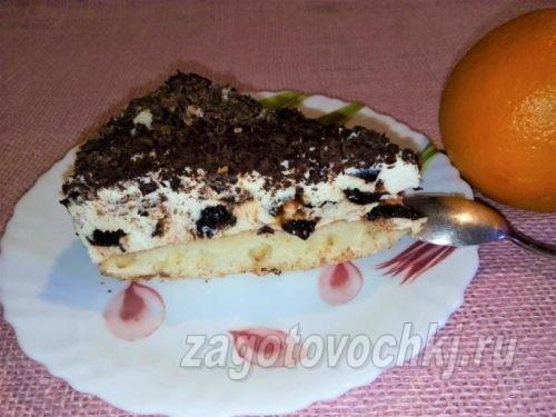 торт с творожным кремом рецепт
