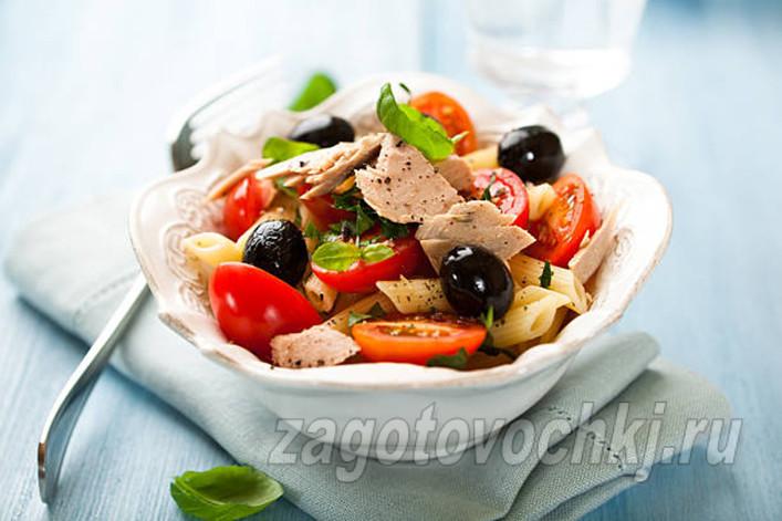 Салат из тунца диетический
