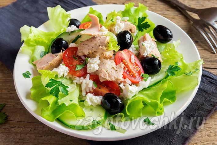 Салат из тунца по французски