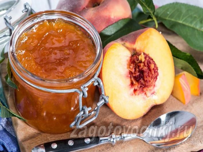 Варенье из ревеня с персиками