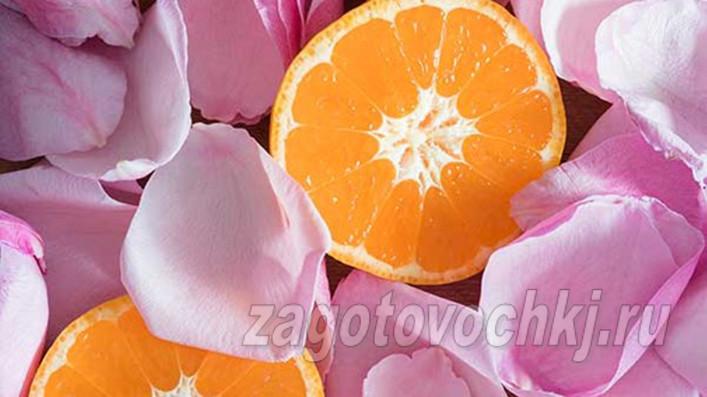 Быстрый рецепт варенья из роз с мандаринами