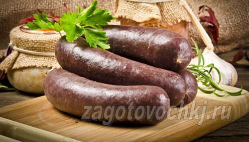 Рецепт приготовления домашней кровяной колбасы без использования кишок