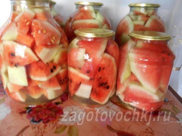 залить арбузы кипятком
