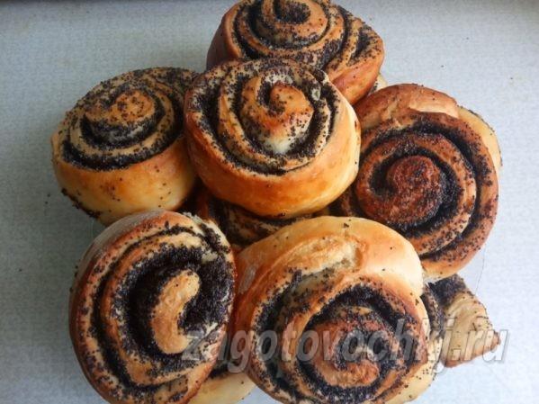 Рецепт ароматных и пышных булочек с маком