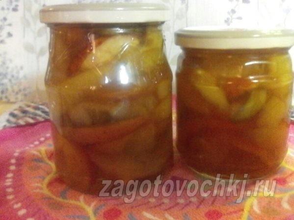 прозрачное варенье из груш и яблок дольками