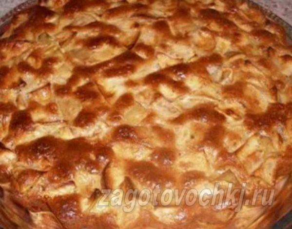 шарлотка из черствого хлеба