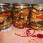 баклажаны с помидорами слоями