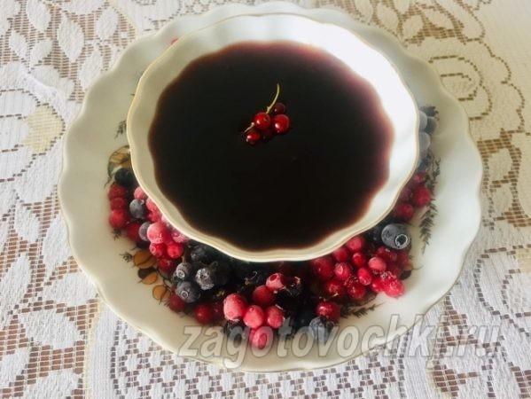 варенье из замороженной красной смородины