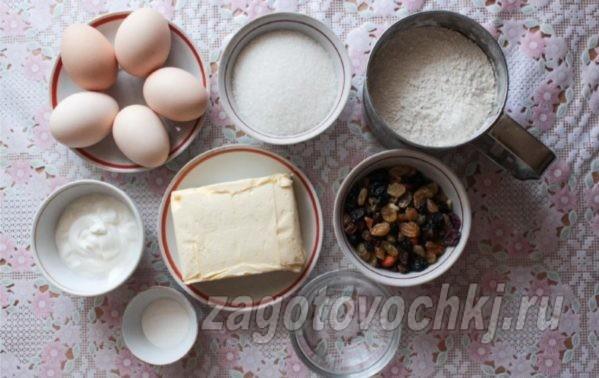 продукты для пасхальных кексов